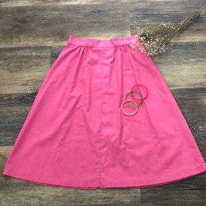 Summer Pink Vintage Skirt and 3 matching Bangles